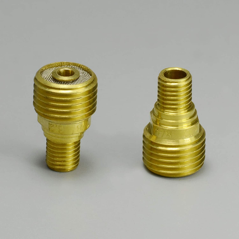 45V45 3.2mm 1//8 TIG Gas Lens Collet Body Fit SR DB PTA WP 9 20 25 TIG Welding Torch 3pk