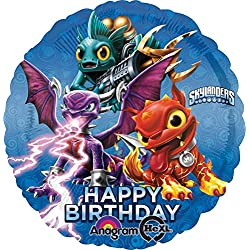 Anagram International HX Skylanders Happy Birthday Party Balloons, Multicolor