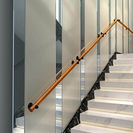 LXYu-Stair handrail Barandilla de Escalera de Madera Maciza de 1 pie-10 pies para Interiores y Exteriores, escaleras, pasamanos y barandillas, Soporte de riel, 2,2 m: Amazon.es: Hogar