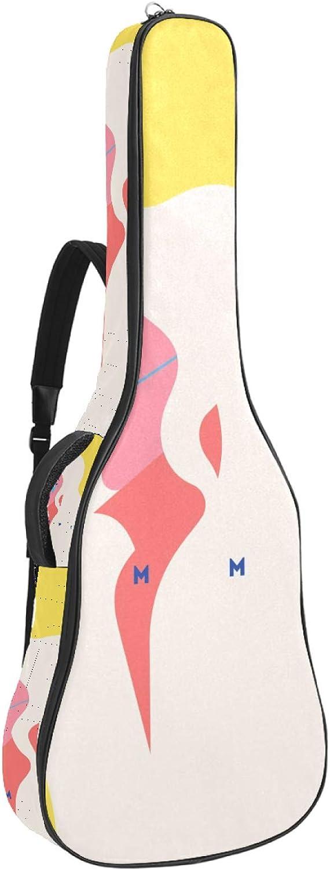Bolsa de guitarra acústica Blondie modelo chica con gafas de sol impresión personalizada tamaño completo caja de guitarra Gig bolsa con asa acolchada correa de hombro