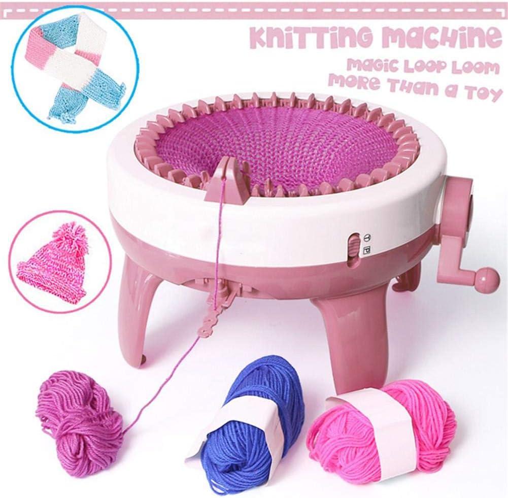 for Adults and Kids Knitting Board Rotating Double Knit Loom Machine DIY Knitting Loom Machines Weaving Loom Kit Smart Weaving Loom Knitting Round Loom Blueyouth Knitting Machine