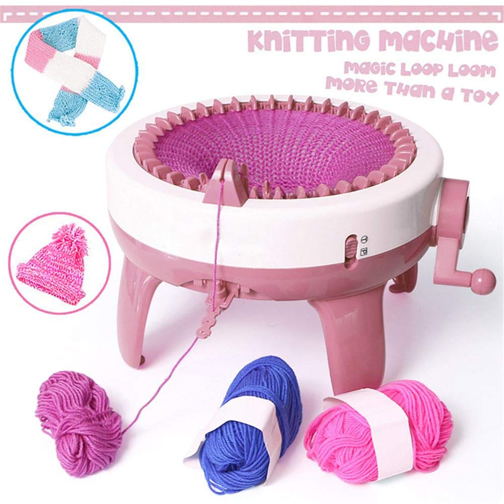 Thanksgiving New Year and Christmas Attractive Wustrious Knitting Machine,Made by Plastic//No Odor//DIY Hands-on Knitting Machine//Easy to Use A Good Gift for Birthdays
