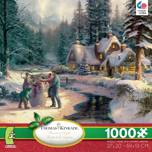 Thomas Kinkade: Holiday at Winter's Glen - 1000 Piece Jigsaw Puzzle