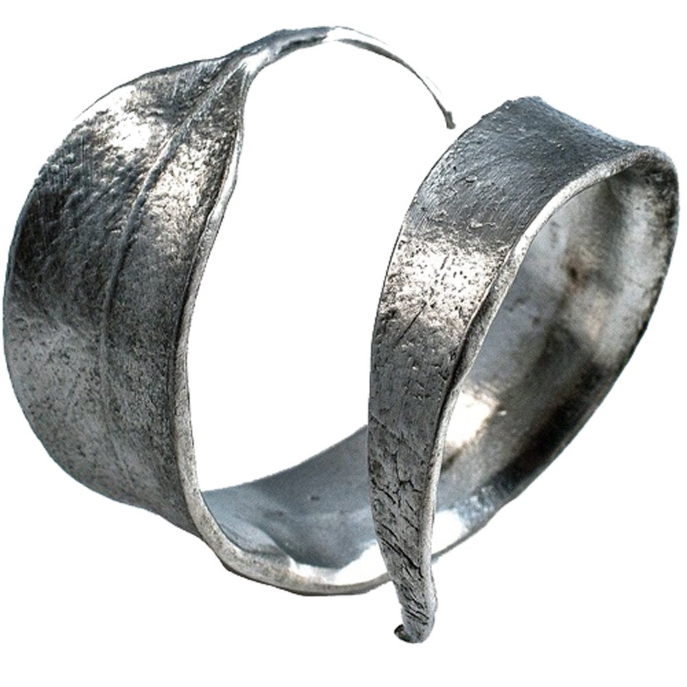 by Michael Michaud for Silver Seasons ~ Table Art Set of 4 Silver Curled Eucalyptus Napkin Rings