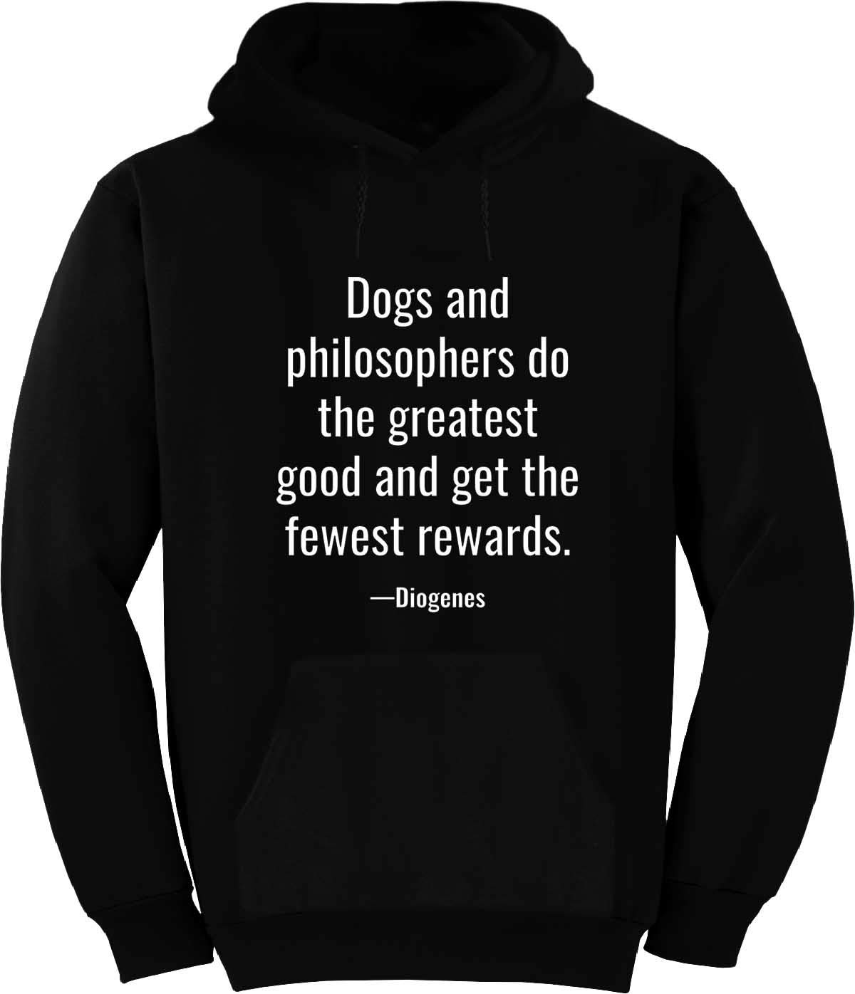 BuffThreads Dogs and Philosophers do The Greatest Hoodie Black