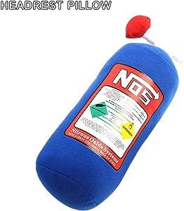 Carrfan NOS Nitrous Oxide Bottle Pillow Car Decor Headrest Cushion Creative Plush Pillow