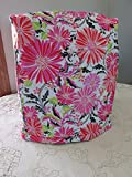 kitchenaid mixer pink cover - KitchenAid Mixer Cover - Hannah Pink Floral Design with Black & White Floral Reverse - Reversible Quilted Kitchen Appliance Dust Cover - Size and Pocket Options