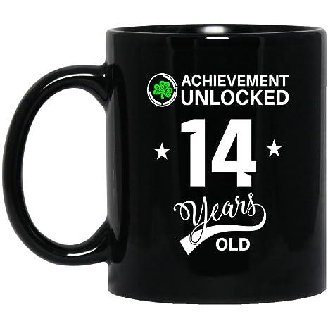 Birthday Mug Gift For 14 Year Olds Achievemennt Unlocked Old Gifts