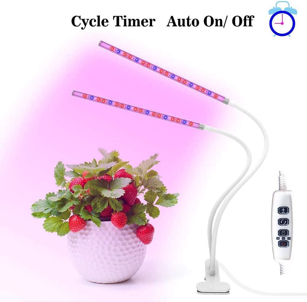 Lámpara de la planta Planta de la lámpara, LED crece la luz, rojo/azul del espectro LED, ajustable de 360 grados de cuello de cisne luz cada vez mayor con el temporizador automático, for plantas d