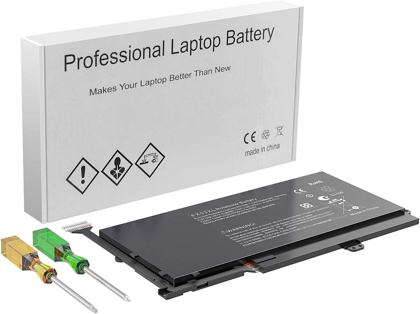 PX03XL Laptop Battery Compatible with HP Envy 14 Touchsmart M6 Series M6-k M6-k022dx M6-k010dx M6-k025dx M6-K015DX M6-k125dx 14-K002TX 14- K112NR TPN-C111 TPN-C110 TPN-C109 715050-001 714762-1C1