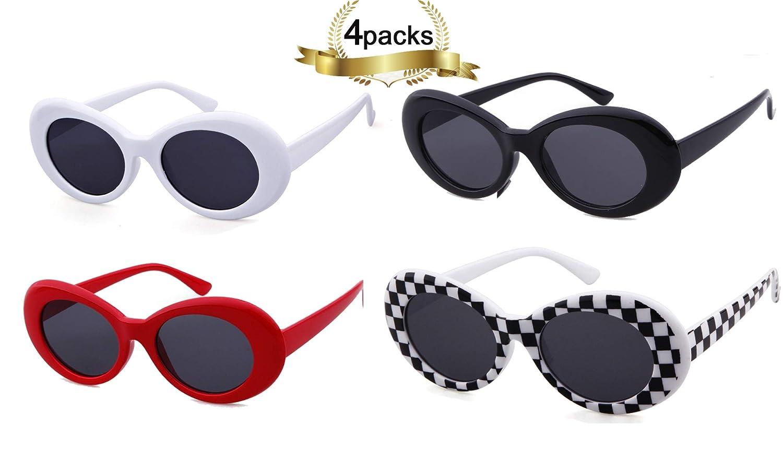 e795372022c6 Amazon.com  SORVINO Sunglasses Unisex Kurt Cobain Glasses Bold Retro Oval Mod  Clout Goggles  Clothing