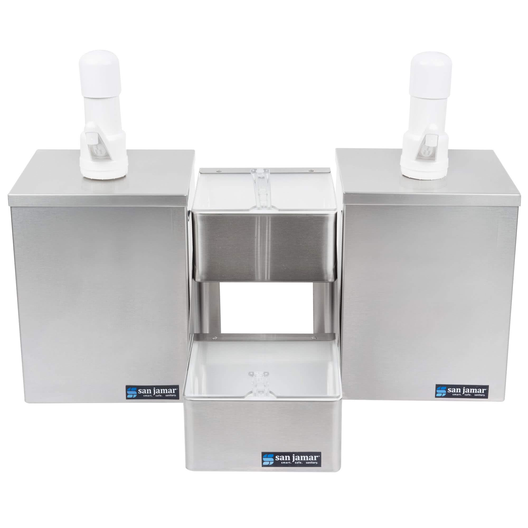 TableTop King P9826 Pump and Condiment Tray Center with 2 Trays and 2 Pump Boxes by TableTop King