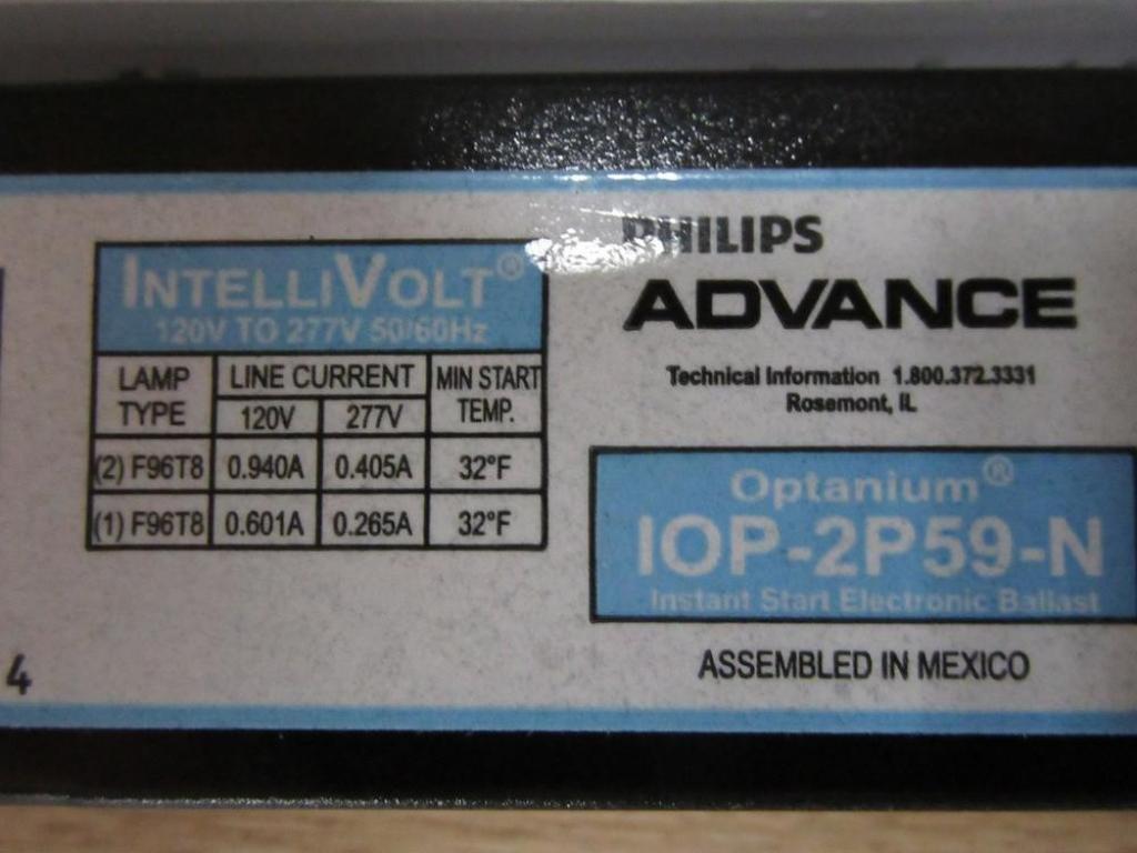 Amazon.com: Philips Advance 107 vatios, 2 lámparas, Balastro ...