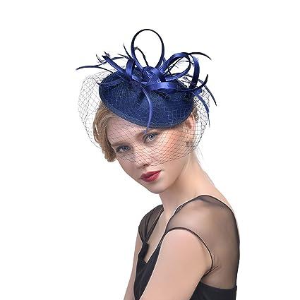 866d142ba0c0e Fei Fei Sombreros Europeos y Americanos de la Boda del Estilo con Velo  Banquete Etapa Headwear