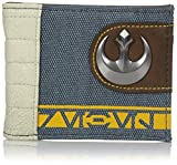 Bioworld Men's Star Wars Rogue One Rebel Mixed Material Bi-fold Wallet, blue, One Size