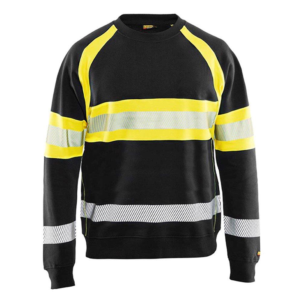 High Vis Sweater Schwarz//Gelb 4XL