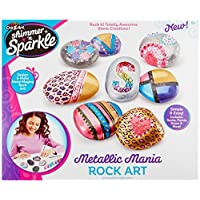 Cra-Z-Art Shimmer & Sparkle Metallic Madness Rock Art Crafts Kits