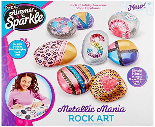 (Cra-Z-Art Shimmer and Sparkle Metallic Madness Rock Art Crafts Kits)