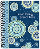 Eureka Blue Harmony Back to School Classroom Supplies Record and Lesson Plan Book for Teachers, 8.5'' x 11'', 40 Weeks