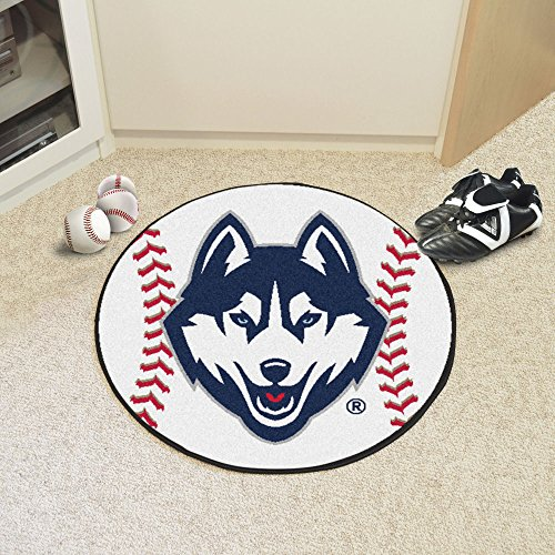 Floor 29 Round Mat Baseball - Connecticut Huskies NCAA Baseball