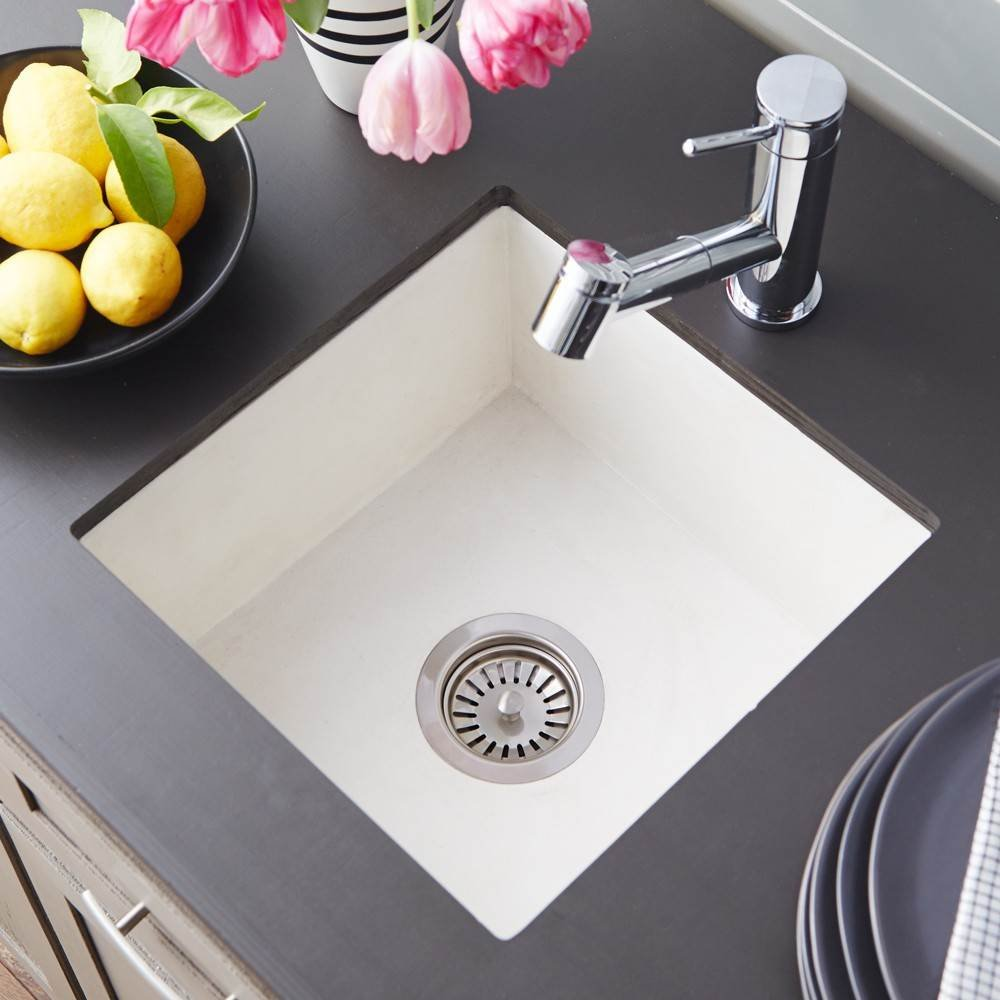 Native Trails NSB1515-P Ventana Native Stone Under Under mount Bar/Prep Sink, Pearl