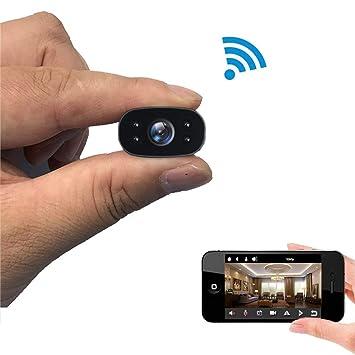 C-Xka Cámara en Miniatura 1080P Ultra HD Night Vision Hidden Wireless WiFi Detección de