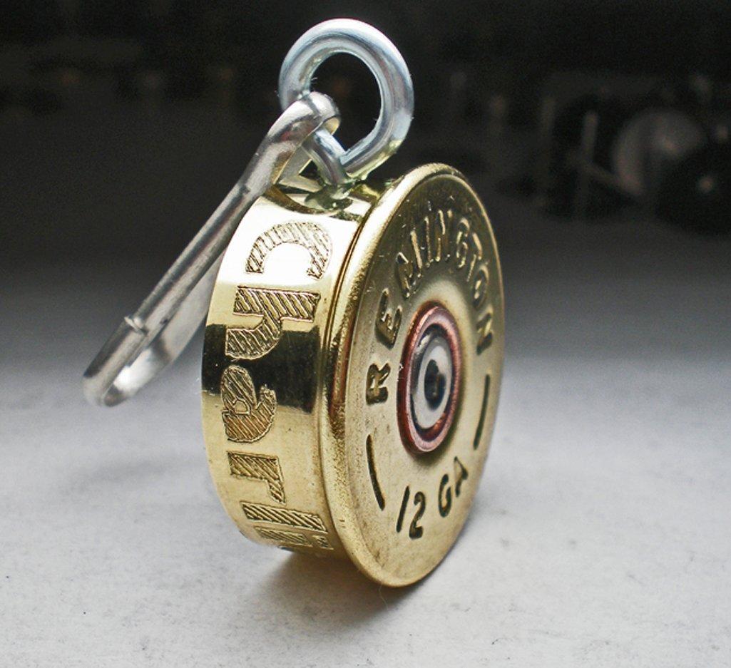 12 Gauge Brass RP Bullet Engraved Personalized Brass Genuine Bullet Pet Dog Tag Pet I.D.Tag