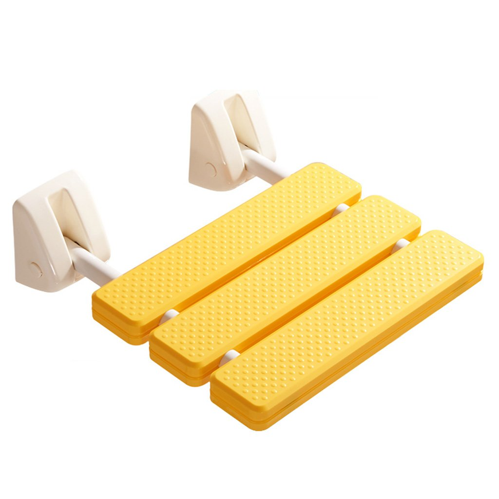 バスルーム滑り止めシートシャワー折り畳みスツール厚いアルミバススツール (色 : Enhanced Edition yellow) B07DFF4833 Enhanced Edition yellow Enhanced Edition yellow
