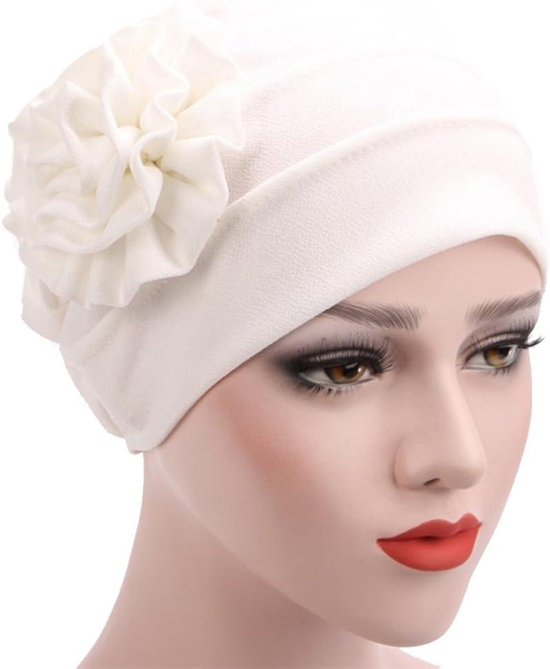 Cappello Chemo Flower Berretto di Cotone Semplice per Donne Fascigirl Cappello da Turbante