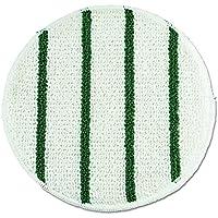 Rubbermaid RCP P269 Low Profile Scrub-Strip Carpet Bonnet, 19 Dia, White/Green