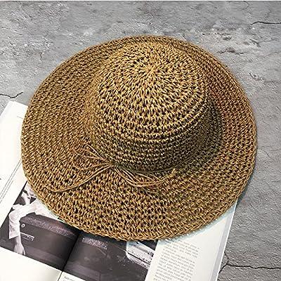xing xiao Chapeau De Plage Chapeaux D'Été Pour Les Femmes Chapeau Chapeau De Soleil Chapeau De Paille Panama Plage Grand Large Bord D'Étrave Noir Capuchon Femelle De L'Os