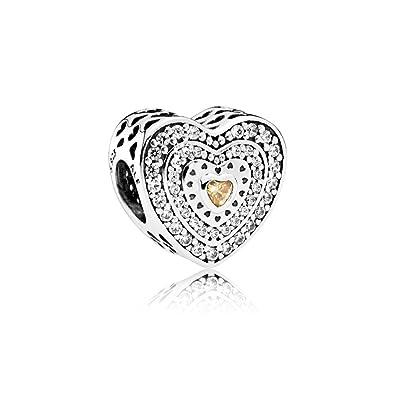 7fc93843e Image Unavailable. Image not available for. Color: Pandora Women's Lavish  Heart Charm ...