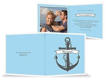 Hochzeitseinladung   Anker Mit Banner   Karte Mit Foto   Hochzeitskarte Zum  Individualisieren   500 Stück