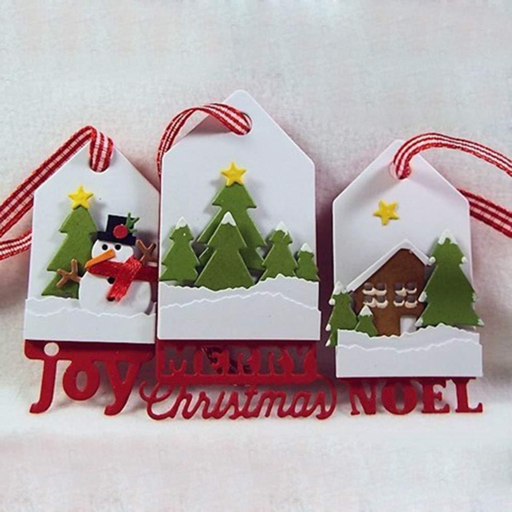 P12cheng Metal Cutting Dies Christmas Tag Die Cuts Stencil For Diy Scrapbooking Paper Cards Craft Emboss Xmas Card Buy Online In El Salvador At Desertcart
