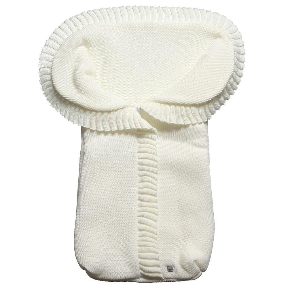 Saco Abrigo de Punto para Capazo del Bebé - Liso Beige Minutus