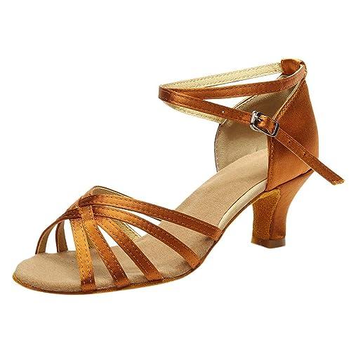 de14e7dcc1f7 Tanzschuhe Damen Dtandard und Latein,Frau Silber Schwarz Dance Schuhe,Peep  Toe Salsa Tango Sandalen Sandaletten Modern Ballschuhe High Heel ...