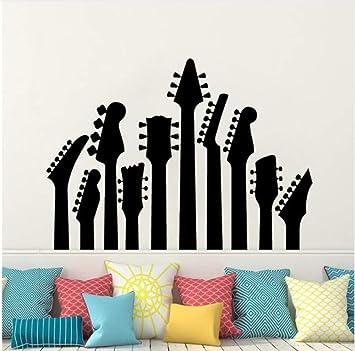 Amazon Com Wsqyf Guitar Wall Applique Guitar Neck Music Series Wall