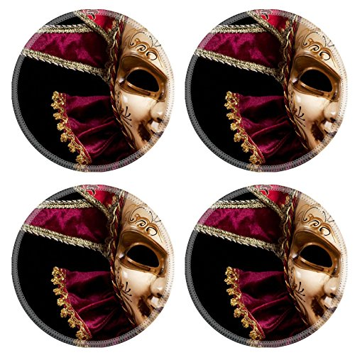 [MSD Round Coasters IMAGE ID 19315803 Carnival in Venice image with ample copyspace Isolated On] (Venice Carnival Costumes Ideas)
