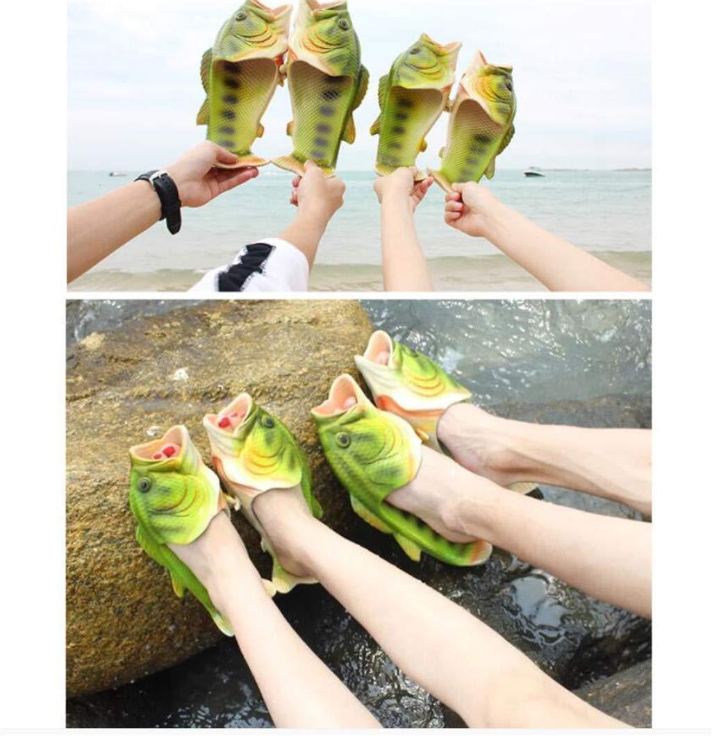 TUOXIE Fish Animal Slippers Summer Beach Sandals Duppern Duppern Duppern Non-Slip Beowes Wear für Damen Männer und Kinder Casual schuhe,34  4b5037