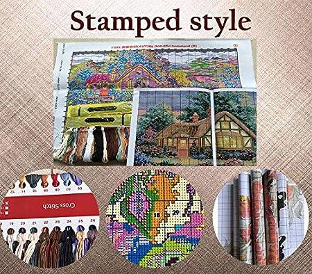 71cm/×42cm or 27.69/×16.38 Joy Sunday Cross Stitch Kits,Animal Style,Three Dogs 4,11CT Stamped