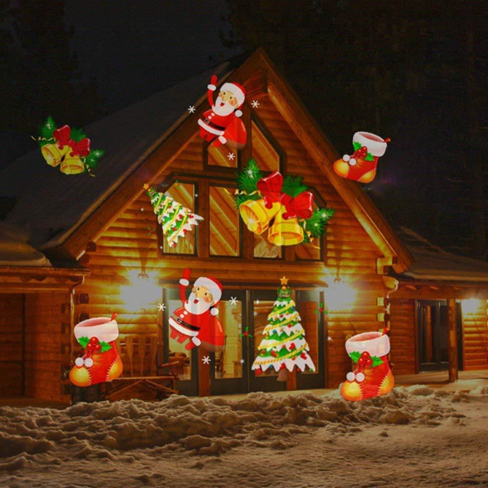LED Lights Projektor Dekoration, Halloween Star Weihnachts-Outdoor ...