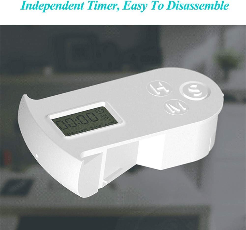 Xiuganpo Scatola per medicinali Elettronica a Prova di Polvere per casa di Viaggio 4 Grid Gray Dispenser Automatico di Pillole Multifunzionale a Prova di umidit/à