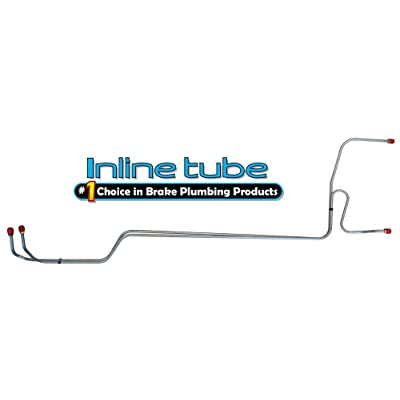 Inline Tube CNT6601 Compatible With 65-66-67 Nova preformed automatic transmission cooler cooling lines t-350 700R4 OE Steel (W 2 3): Automotive