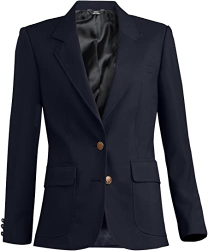 58 R Edwards Classic Three Button Pinstripe Suit Coat Navy