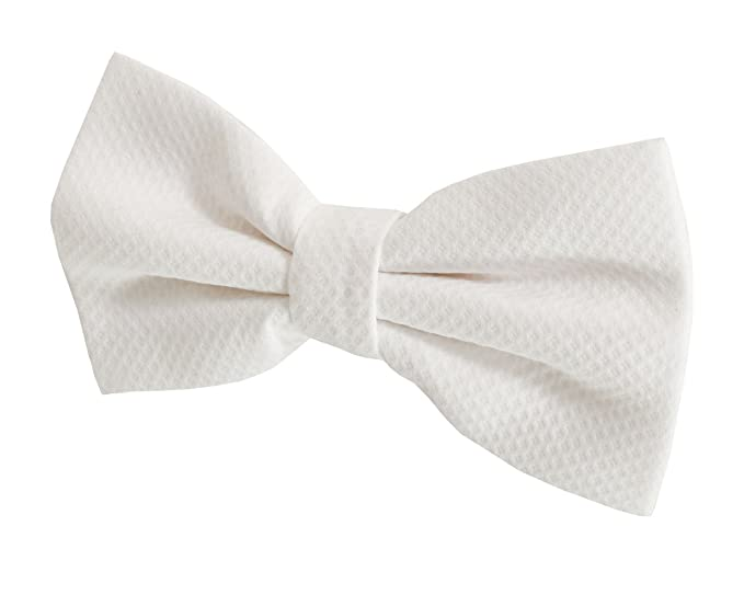 1920s Fashion for Men Dobell Mens Marcella Bow Tie 100% Cotton Pre-Tied White Tie Evening Wear Accessory $24.95 AT vintagedancer.com