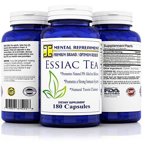 Canada 200 Capsules (Mental Refreshment: Essiac Tea 900 mg, 180 capsules (1 Bottle))