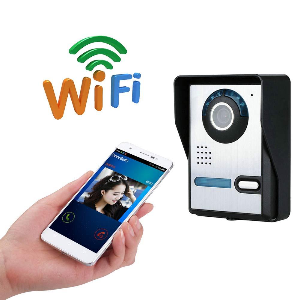 Kabellos Video Türklingel Doorbell Video Türklingel Gegensprechanlage WLAN Aktiviert Drahtlose Türklingeln mit Zwei-Wege-Audio-Motion-Sensor und Nachtsicht  800X640p