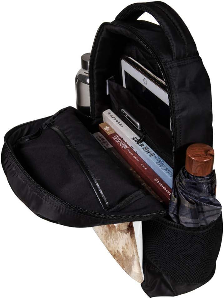 MAPOLO Rabbit Wear A Glasses School Backpack Travel Bag Rucksack College Bookbag Travel Laptop Bag Daypack Bag for Men Women