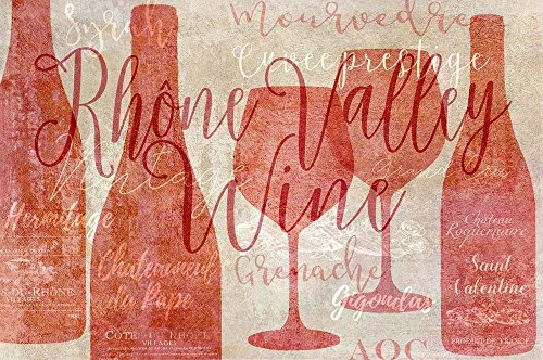 Rhone Valley by Cora Niele Art Print, 24 x 16 inches ()