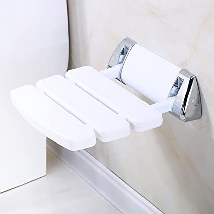 Home Improvement Wall Mounted Shower Seat Folding Saving Shower Chair Shower Stool Bathroom Accessory Bath Seat Toilet Chair Anti-slip For Elder 100% High Quality Materials Bathroom Fixtures